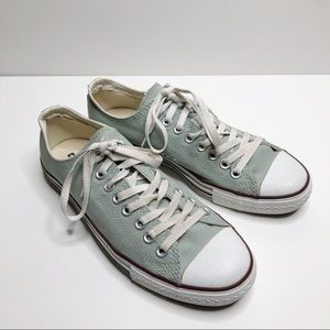 Converse Mint Green And Brown Low Top Sneakers